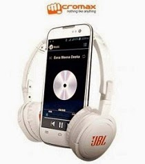 (Lowest Price) Micromax Canvas Music A88 (White) for Rs.6749 with FREE JBL Headphone Only @ Flipkart