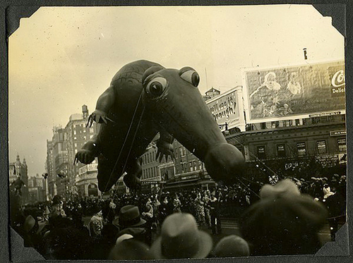 Vintage Thanksgiving Day Parade Floats
