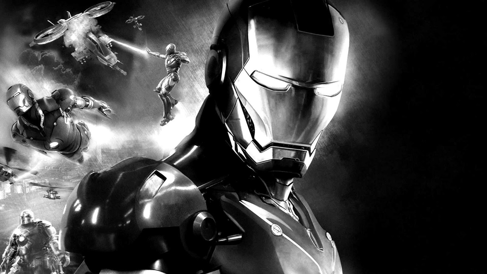 Iron Man 3 costume black and white Photo