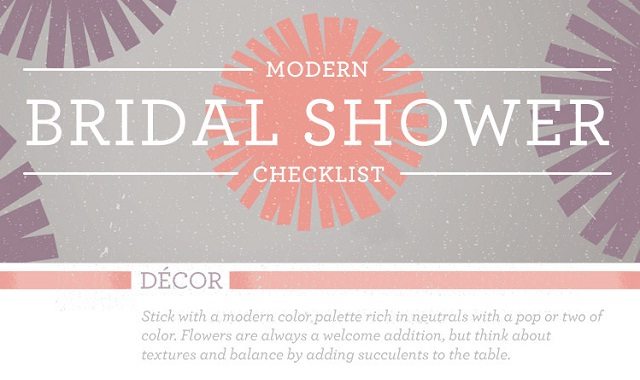 Modern Bridal Shower Checklist #Infographic ~ Visualistan