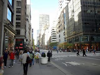 Walking on fifth avenue