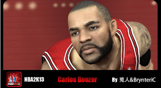 NBA 2K13 Mods Carlos Boozer 3 Cyber Face