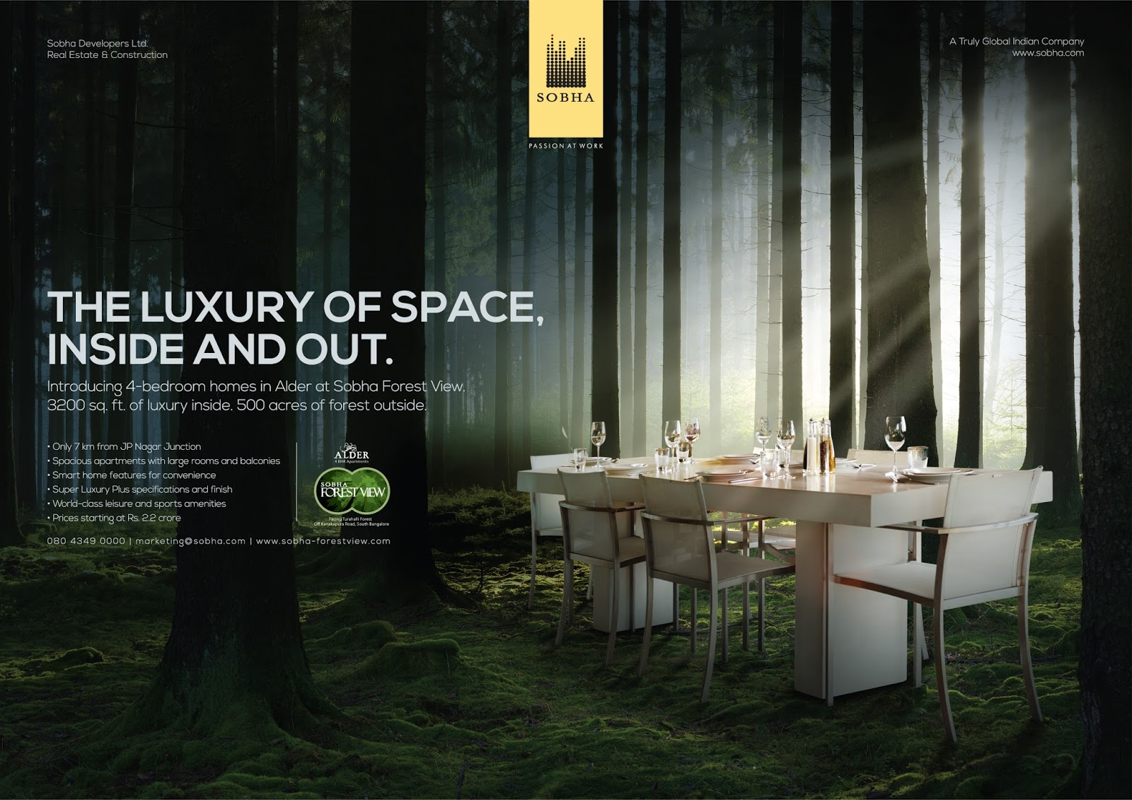 CREATIVE GALLERY: Sobha Forest View Ads