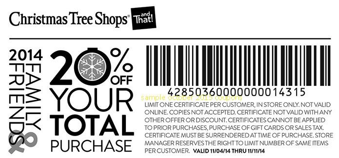 photograph regarding Christmas Tree Shoppe Printable Coupons referred to as Xmas Tree Retailer Coupon codes 20 Off Resume Layout Obtain Pdf