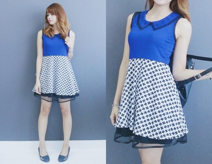 Technemoda Mini Blue Dress Asian Fashion Dubai Blogger