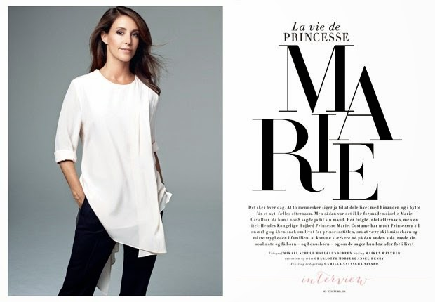 Princess Marie gave an exclusive interview to the Danish women's magazine Costume for the October issue.