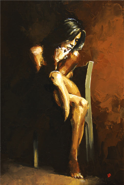 Victor Bauer 1969 | American Knife Figurative painter | Ocean breeze