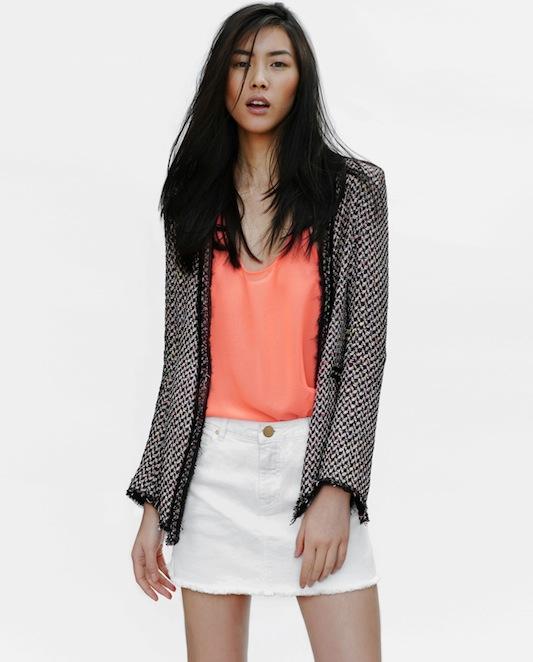 Zara, Liu Wen, lookbook
