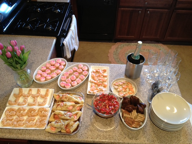 Chef Carling Bachelorette Party Snacks Champagne