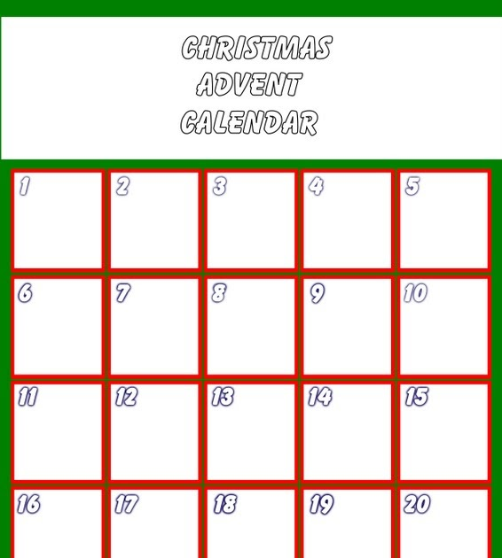 Simply Crafts Blank Advent Calendar Click To Enlarge