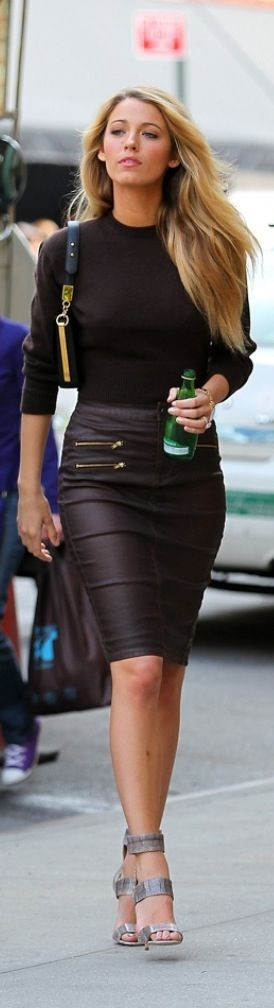 Leather skirt   #Perfect