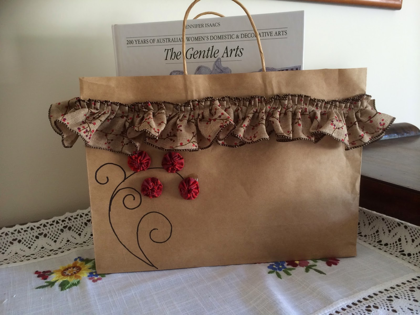Ringwood sewing centre decorated christmas gift bags