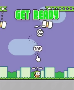 Bắt đầu game Swing Copters