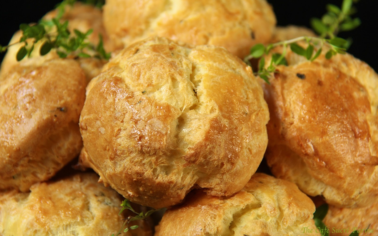"... : Fresh Rosemary & Thyme Gougeres and the ""French"" Giveaway"