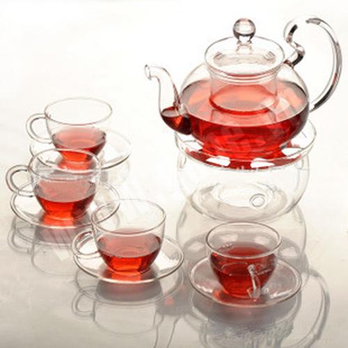 Kết quả hình ảnh cho Ấm trà thủy tinh bếp nến.