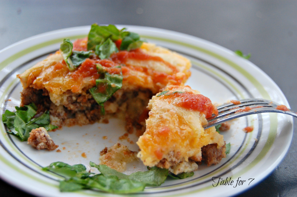 Taco Pie • Table for Seven