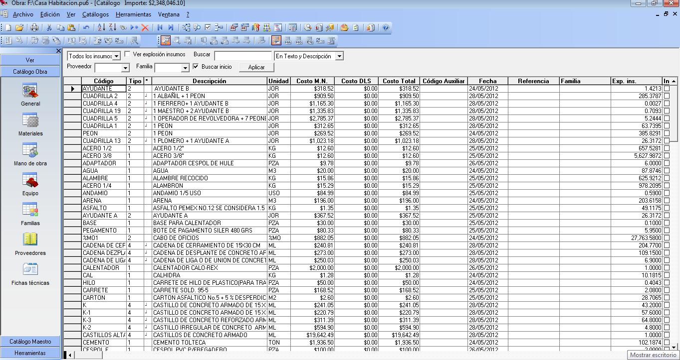 Equipo 6 presupuesto de obra neodata for Presupuesto piscina obra