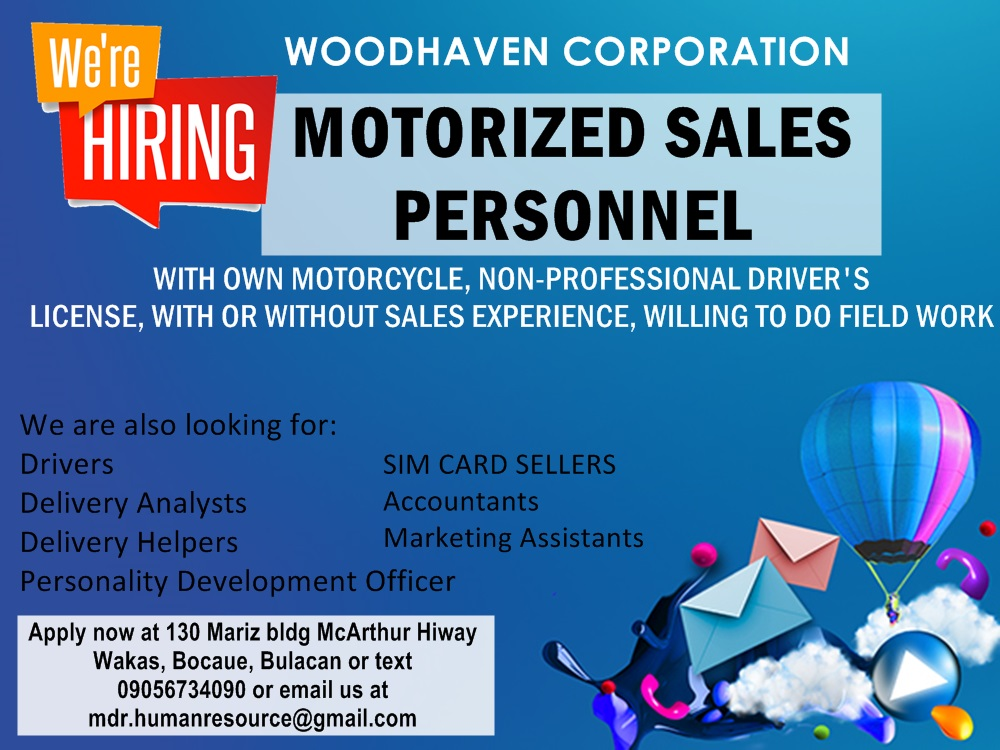 Job Vacancies - Bulacan area