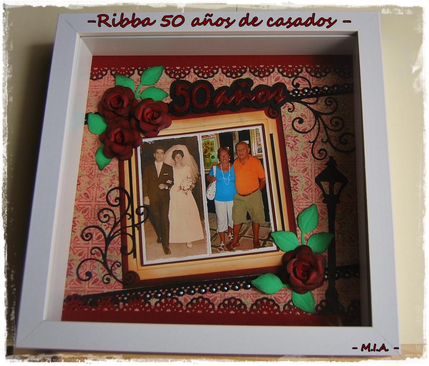 Tela papel tijeras ribba 50 a os de casados - Regalos 50 anos de casados ...