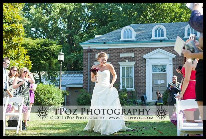Johns hopkins glass pavilion wedding ceremony