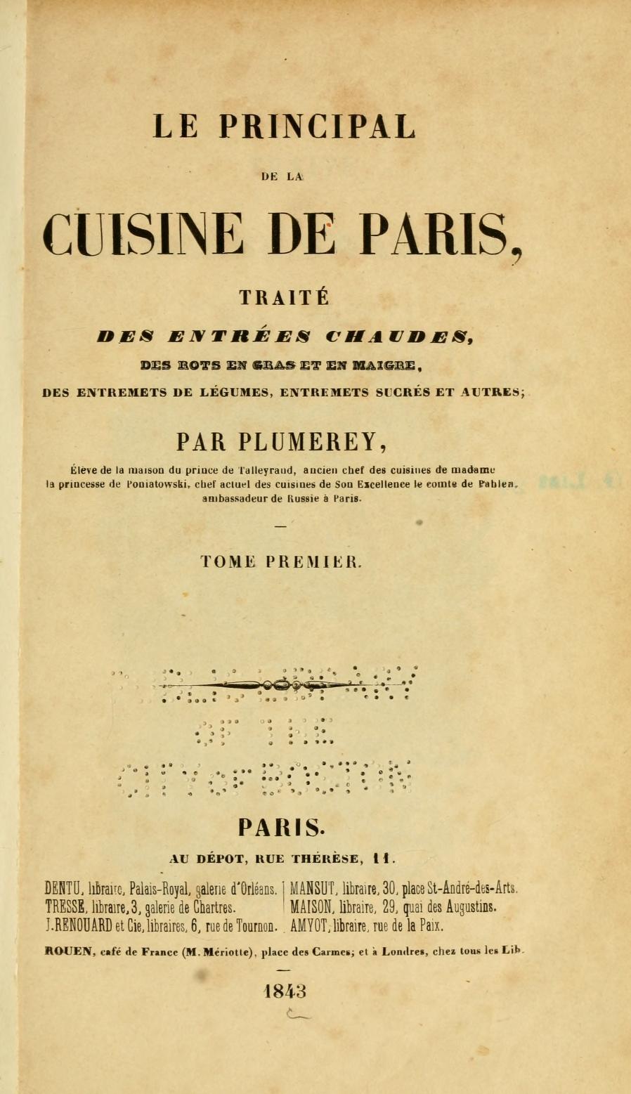 La cuisine fran aise d 39 antan le gras double et le - L art de la cuisine francaise ...