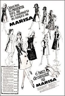 lojas Marisa, Brazil fashion in the 70's, 1970; moda anos 70; propaganda anos 70; história da década de 70; reclames anos 70; brazil in the 70s; Oswaldo Hernandez