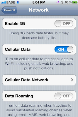 Disable 3G iPhone 4s How