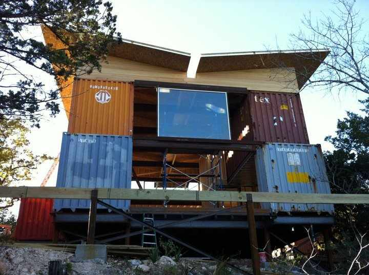 texas container homes jesse c smith jr consultant another container home in bourne texas. Black Bedroom Furniture Sets. Home Design Ideas
