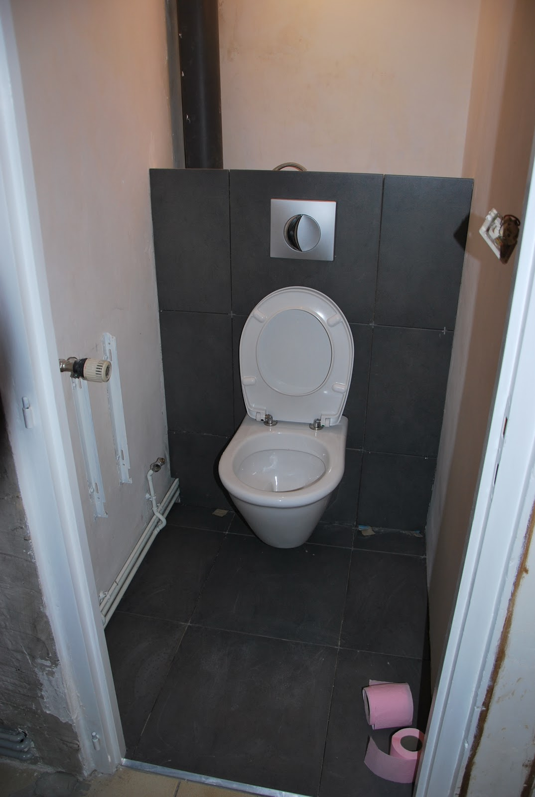 Poser du carrelage wc suspendu for Carrelage wc gris