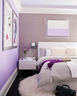 habitaciones moradas dormitorios con estilo. Black Bedroom Furniture Sets. Home Design Ideas
