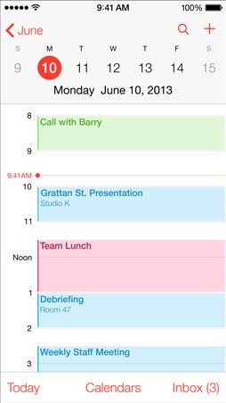 iOS 7 Maps, Calendar