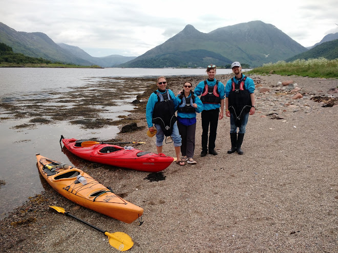 kayaking on Loch Leven near Glencoe, Scotland, 2018