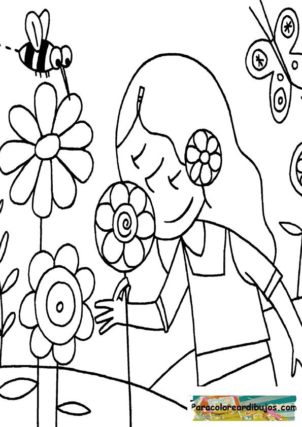 DIBUJOS de un niño oliendo la comida para colorear - Imagui