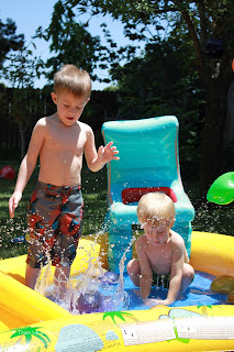 Water Balloons in the Play Pool