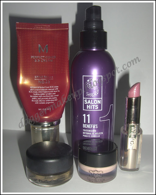 Mis top 5 de 2012: Misha Perfect Cover, 11 Benefits, Paintpot Contructivist, Concealer in a jar, Loreal Caresse