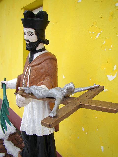 Radoszyce, rzeźba św. Jana Nepomucena. Fot. Tadeusz Czarnecki.