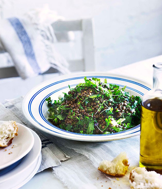 Lenting and coriander salad recipe by George Calombaris via Gourmet Traveller