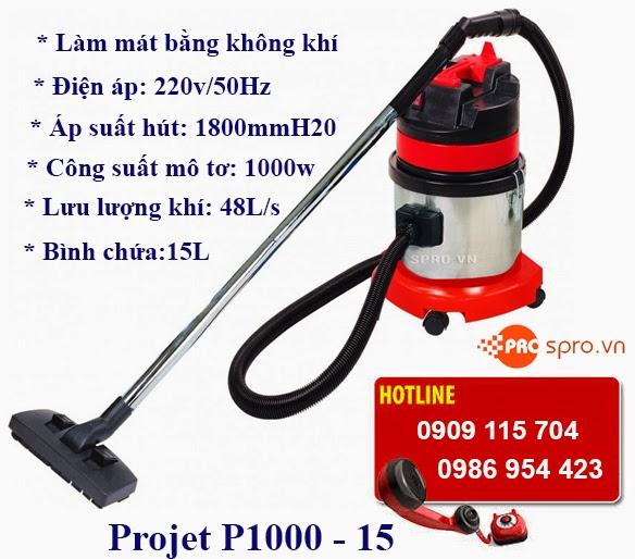 Máy hút bụi công nghiệp Projet P1000-15 - máy hút bụi văn phòng giá rẻ