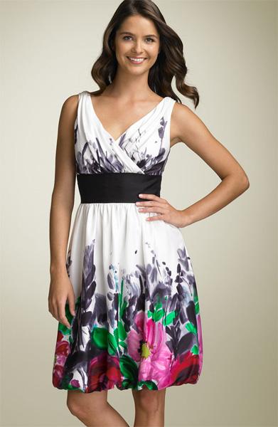 print simple prom dress