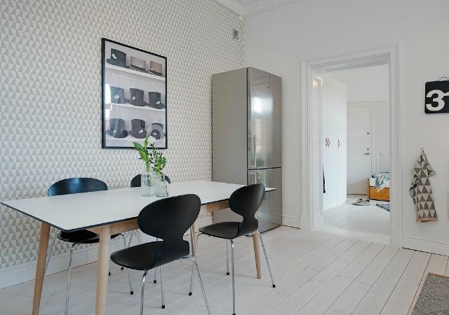 Decoraci n f cil cocinas con papel pintado - Papel pared cocina ...