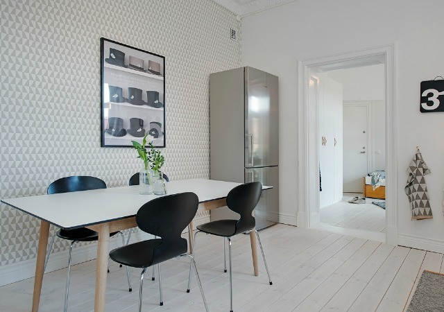 Decoraci n f cil cocinas con papel pintado for Papel de pared cocina