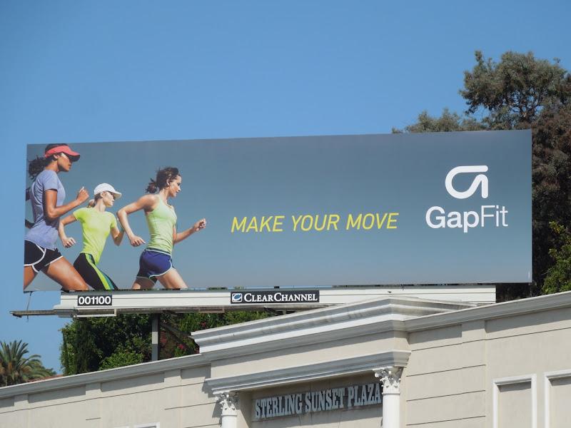 Gap Fit Make your move billboard