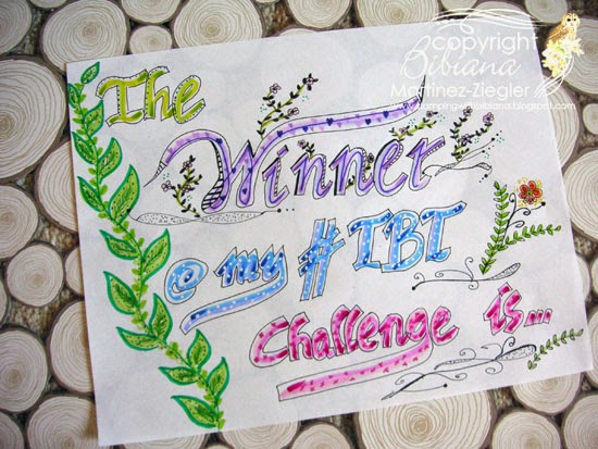 calligraphy sign winner TBT challenge
