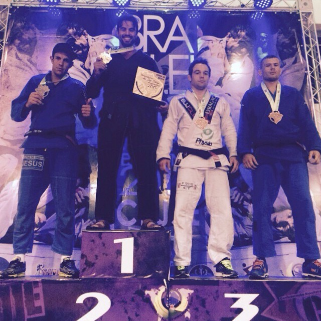 Em maio, Diego Galante foi Campeão Brasileiro de Jiu-Jitsu Esportivo. Foto: Arquivo pessoal