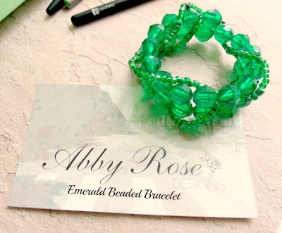 abby rose designs emerald beaded bracelet