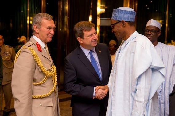 Photos: Buhari meets with UK's Chief of Defence Staff