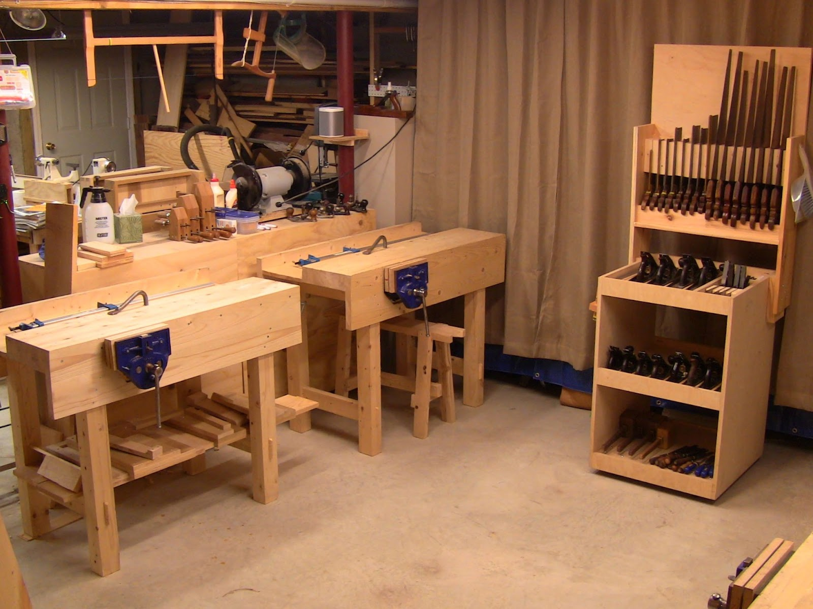 Close grain private classes in my basement workshop - Basement design tool ...