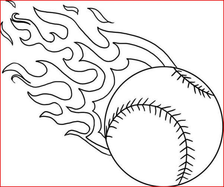Coloring pages baseball coloring pages free and printable for Softball coloring pages to print