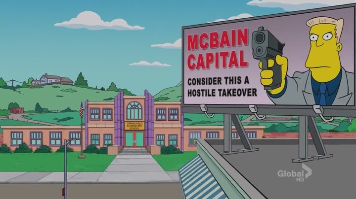 Simpsons' McBain Capital Opener