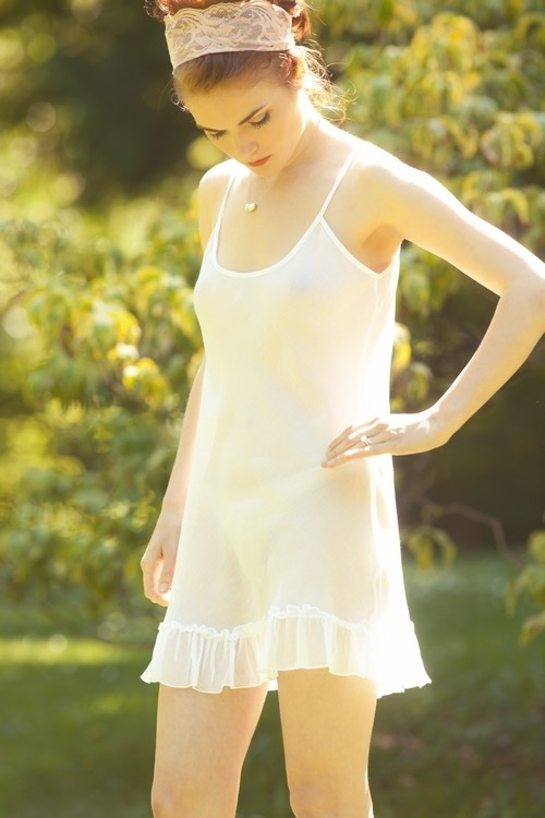bridal lingerie wedding cotton chemise slip